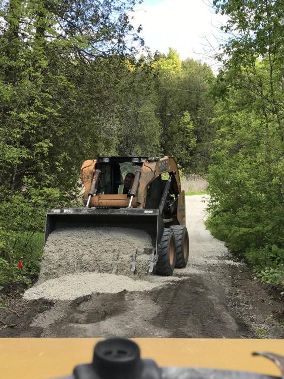 prepping driveway for asphalt
