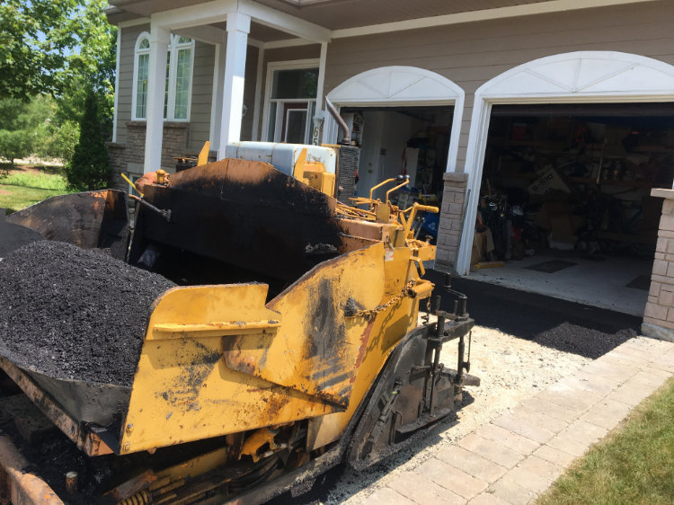 getting ready to pave a driveway on a residential property