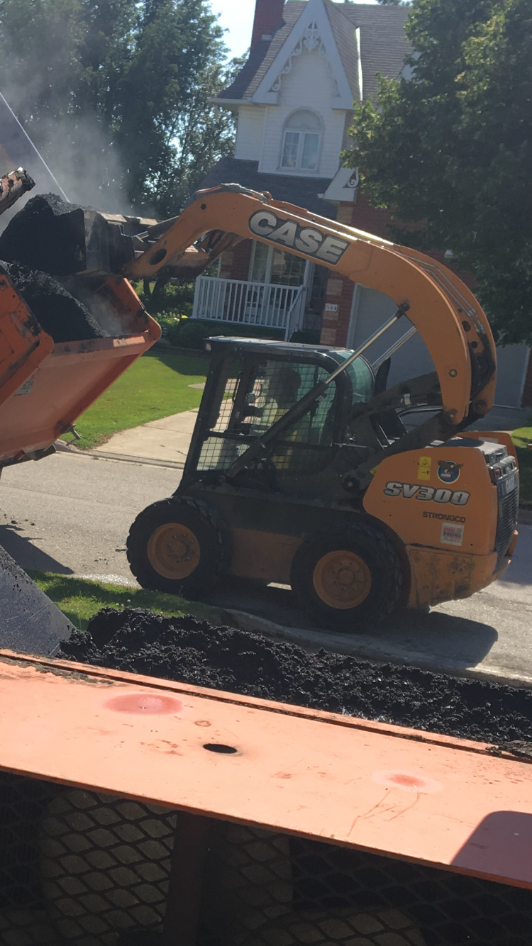 getting ready to lay asphalt at a residential property