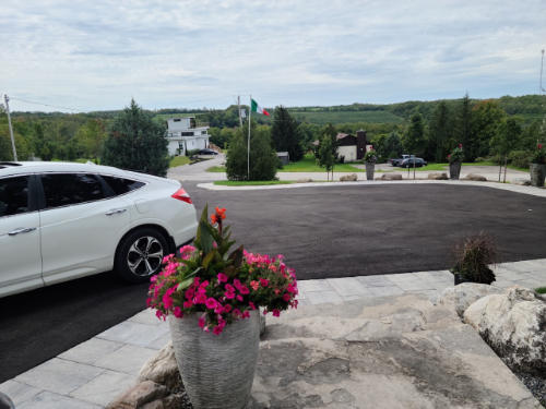 paved asphalt driveway