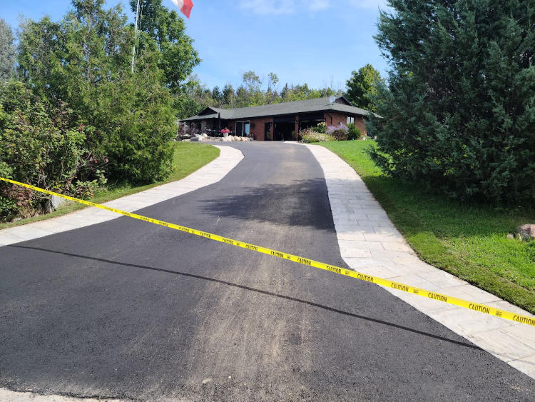finished up a new residential asphalt driveway