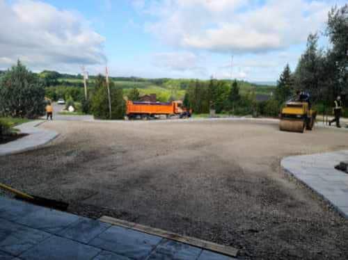 prepping a driveway for asphalt